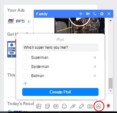 messenger how to start a poll